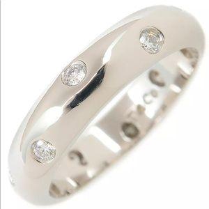 Auth Tiffany & Co Platinum Etoile 10P Diamond Ring